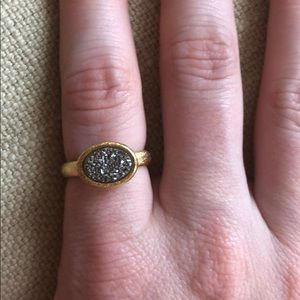 Silver and gold Anthropologie  ring